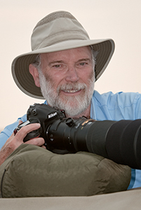 John Shaw, on safari in Kenya.